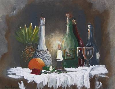 Painting - Still Life by Miroslaw  Chelchowski