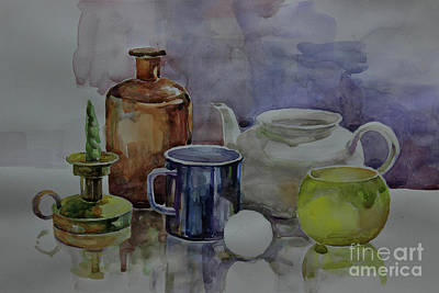 Painting - Still Life by Nedko  Nedkov