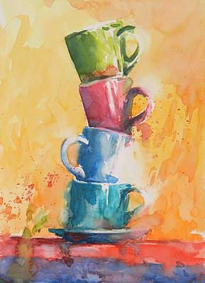 Loose Watercolor Painting - Still Life No 2 by Virgil Carter