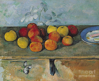 Still Life Of Apples And Biscuits Art Print