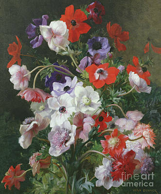 Still Life Of Flowers Painting - Still Life Of Flowers by Jean Benner