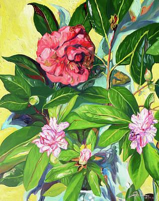 Still Life Of Flowers Art Print