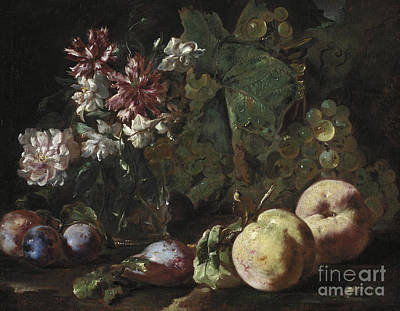Painting - Still Life Of Fruit And Flowers by Abraham Brueghel