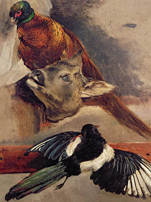 Magpies Painting - Still Life Of Game by Theodore Gericault