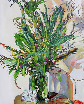 Painting - Still Life Of Kale, Fallen Twigs And Other Things That Survived The Storm by Joseph Demaree