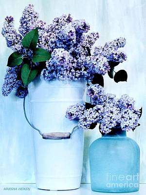 Photograph - Still Life Of Lilacs by Marsha Heiken