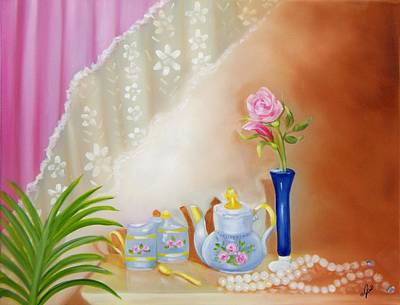 Painting - Still Life Of Tea Pot by Joni McPherson