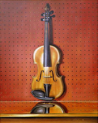 Painting - Still Life Of Violin by RB McGrath