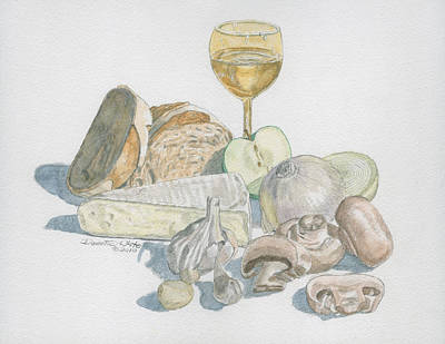 Painting - Still Life Of White Food by Dominic White