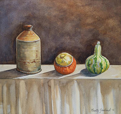 Painting - Still Life On A Table by Marty Garland