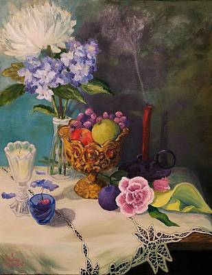 Painting - Still Life On Lace by Sharon Casavant