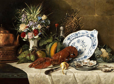 Gourmet Art Painting - Still Life by Otto Goldmann