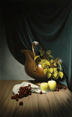 Still Life Painting Zanndam Evening Art Print by Eric Bossik