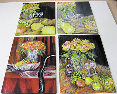 Painting - Still Life. Paintings 5 On 7 Inches On Panels by Oksana Semenchenko