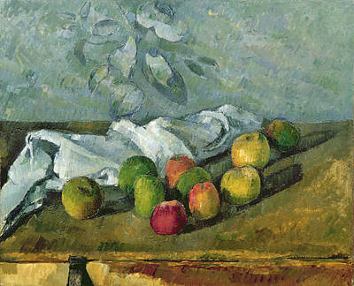 Cloth Painting - Still Life by Paul Cezanne