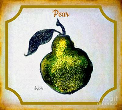 Mixed Media - Still Life Pear  by MaryLee Parker