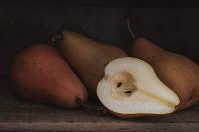 Photograph - Still Life Pears 8037 by Teresa Wilson