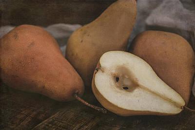 Photograph - Still Life Pears 8086 by Teresa Wilson