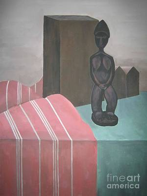 Table Cloth Painting - Still Life by Reb Frost