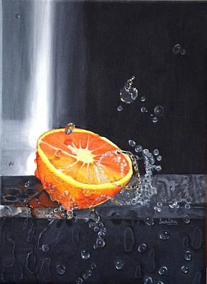 Lemon Drops Painting - Still Life by Sarika Joshi