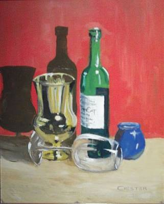 Painting - Still Life Shadows by Francis Chester