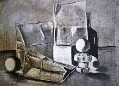 Still Life Drawings - Still Life Study #1 by Shawn Brandon