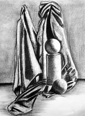 Still Life Drawings - Still Life Study #2 by Shawn Brandon