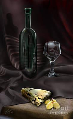 Wine-bottle Painting - Still Life Study by Reggie Duffie
