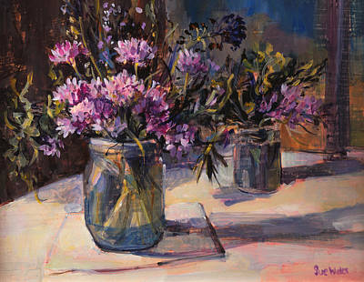 Water Jars Painting - Still Life by Sue Wales