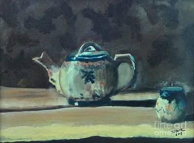 Still Life Teapot And Sugar Bowl Art Print