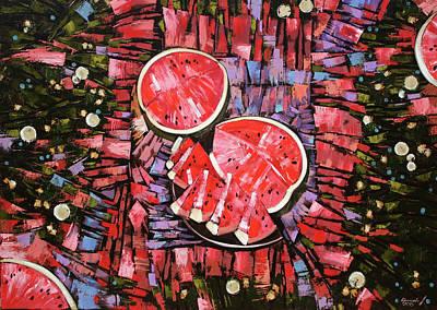Painting - Still Life. The Taste Of Summer. by Anastasija Kraineva