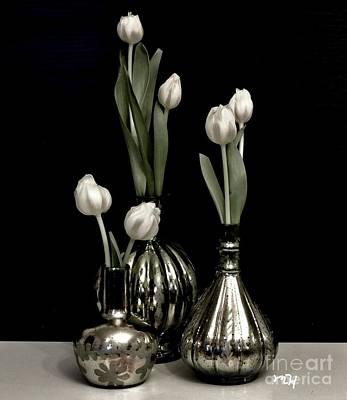 Still Life Tulips In Vases Original by Marsha Heiken