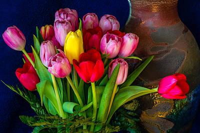 Still Life Tulips Art Print by Jade Moon