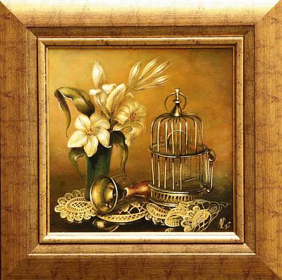 Imprisonment Painting - Still Life  by Vali Irina Ciobanu