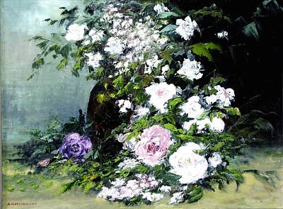 Painting - Still Life W/flowers by Boris Garibyan