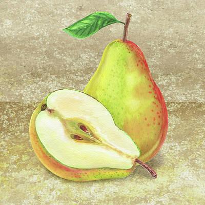 Painting - Still Life Wit Pear by Irina Sztukowski
