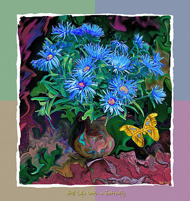 Art Print featuring the photograph Still Life With A Butterfly by Vladimir Kholostykh
