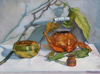 Painting - Still Life With A Copper Kettle by Dominique Amendola