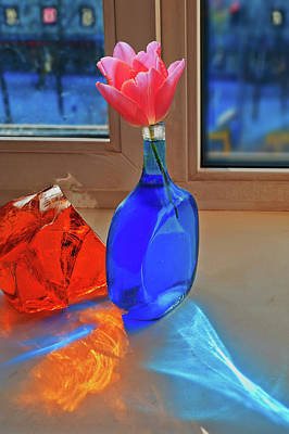 Modern Kitchen - Still Life with a Flower by Vladimir Kholostykh