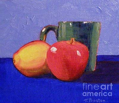 Painting - Still Life With A Green Mug by Teresa Boston