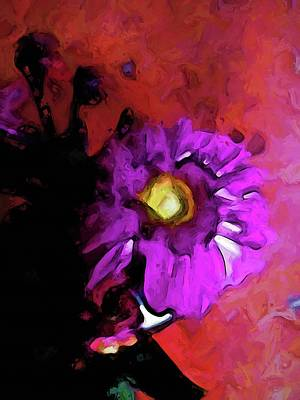 Digital Art - Still Life With A Lavender Flower And A Red Floor by Jackie VanO
