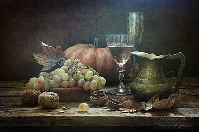 Photograph - Still-life With A Pumpkin by Marina Volodko