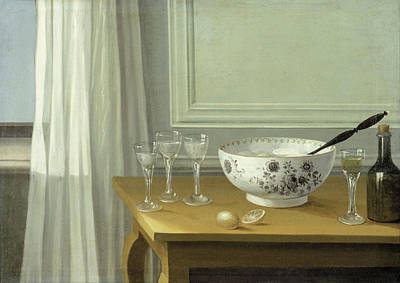 Painting - Still Life With A Punch Bowl by Nils Schillmark