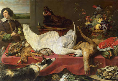 Painting - Still Life With A Swan by Frans Snyders