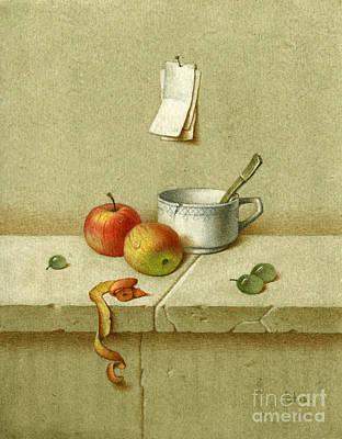 Still Life With A Teacup Art Print