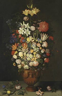 Painting - Still Life With A Vase Of Flowers by Ambrosius Bosschaert