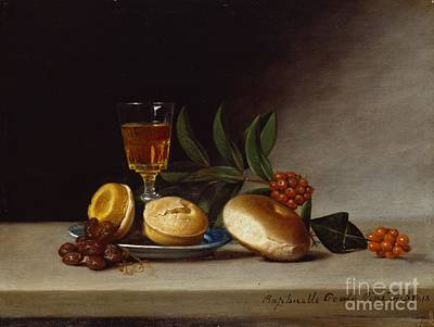 Still Life With A Wine Glass Art Print by Raphaelle Peale