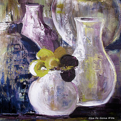 Painting - Still Life With A Yellow Flower by Gina De Gorna