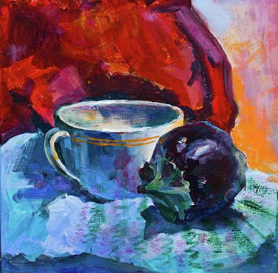 Painting - Still Life With An Eggplant by Maxim Komissarchik