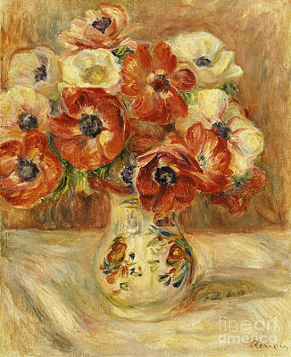 Flower Of Life Painting - Still Life With Anemones  by Pierre Auguste Renoir